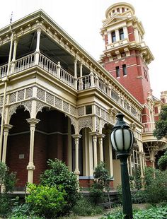 Illawarra House, a beautiful and detailed Queen Anne styled mansion situated in Melbourne, Australia (by Dean-Melbourne).