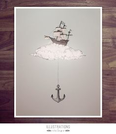 Floating Ship and Anchor by Jane Kim, via Behance
