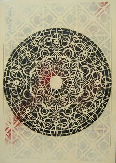 psyche - #mandala - #stencil 70x100 cm  paper