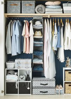 Minimalist Bedroom Design Storage Organization IdeasYou can find Wardrobe storage and more on our Minimalist Bedroom Design Storage Organization Ideas Diy Wardrobe, Small Wardrobe, Bedroom Wardrobe, Wardrobe Design, Bedroom Wall, Diy Bedroom, Closet Minimalista, Wardrobe Organisation, Storage Organization