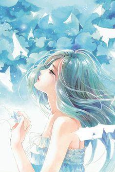 水晶幻想采集到女子·绘·不如不遇倾城色 - 花瓣