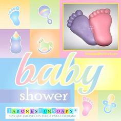 Baby shower - Tiernos piecitos en jabón.