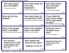 This is a printable file folder game or lapbook game to learn the books of the Bible. Children learn the 66 books of the Bible and the 10 divisions without knowing while playing a fun game! Bible Activities For Kids, Bible Games, Bible For Kids, Bible Trivia, Sunday School Games, Sunday School Teacher, Bible Questions For Kids, Trivia Questions, Homeschool Books