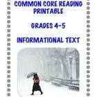 Its cold out there.....FREE today and forever: Winter-themed informational text printable aligned with 5 CC Informational Text Standards in Grades 4-5. #Recipes