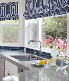 Window treatments in kitchens #interior #decor