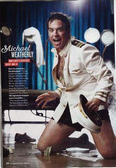 Oh sweet baby jesus. Michael Weatherly