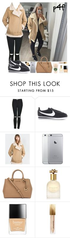 """Passion 4Fashion: Far From Understated"" by shygurl1 ❤ liked on Polyvore featuring Topshop, NIKE, Zara, Michael Kors, Bottega Veneta, Butter London, Burberry, Larsson & Jennings, women's clothing and women's fashion"