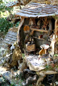 27) fairy treehouse, kitchen by isabellalovedparis, via Flickr