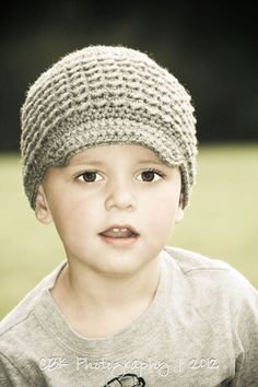 Toddler Newsboy Hat Kids Crochet Little Boy Gray by MyHobbyShop, $22.00  GOT TO HAVE THIS FOR NICK! TOO SWEET!!!