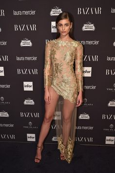 Taylor Hill - Every Stunning Look from Harper's Bazaar's 'ICONS' Party - Photos