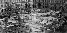 Fotografía fechada en 1935 de la Plaza Mayor de Madrid. EFE