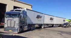 Train Truck, Road Train, Big Trucks, Pickup Trucks, Cab Over, Air Space, Kenworth Trucks, Rigs, Transportation