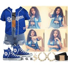 Dodgers., created by dopegenhope on Polyvore