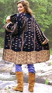 """Central Park Coat from """"Double Knitting - Reversible Two-Color Designs"""" by M'Lou Linsert Baber - I've seen multiple colors of this sweater and they are all absolutely stunning! This one sweater pattern could well justify the cost of the book! I think I've also got another colorway of this pinned here."""