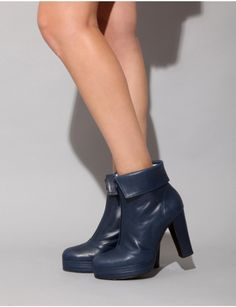 Navy ankle boots [Caw8344] - $489.00 : Pixie Market, Fashion-Super-Market - Shop the latest Fashion Trends
