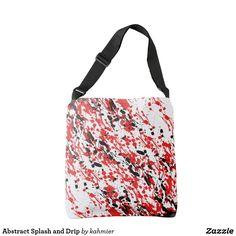 Abstract Splash and Drip Crossbody Bag  50% off