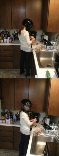 How To Chop Onions - Wear a Motorcycle Helmet ---- best hilarious jokes funny pictures walmart humor fail