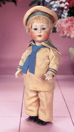Delightful German Bisque Toddler,70532,by Gebruder Heubach. http://Theriaults.com