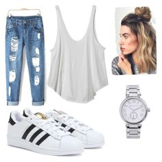 Chilled by natjarv on Polyvore featuring polyvore, fashion, style, RVCA, adidas and Michael Kors