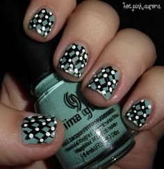 Lattice nails. Never realized how simple this beautiful nail art would be, cute!
