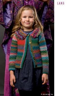 Fatto A Mano 207 Kids von Lang Yarns, Modell 27, Mille Colori Baby Fb.51, Loop Fb.50