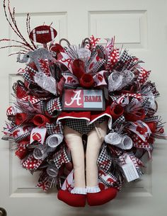 Check out this item in my Etsy shop https://www.etsy.com/listing/499828887/alabama-wreathbama-cheerleader