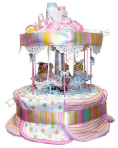 CAROUSEL DIAPER CAKE