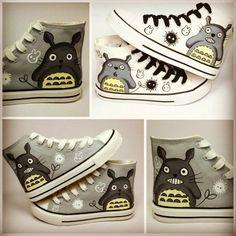 Totoro shoes! Ghibli! I love it!