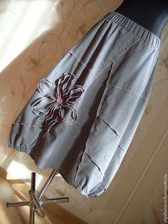 Купить Летняя юбка - серый, одежда, одежда для женщин, юбка, стильная юбка