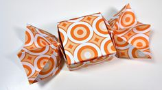Caja de Origami con forma de Caramelo