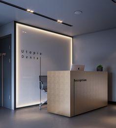 Dental Office Decor, Medical Office Design, Modern Office Design, Dental Design, Office Reception Design, Cabinet Medical, Showroom Interior Design, Counter Design, Hospital Design