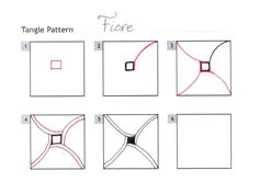 How to draw FIORE « TanglePatterns.com - Pinned with Pin Anything from pin4ever.com