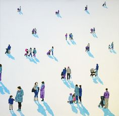 ARTFINDER: People 01 by Stephanie Ho - In this series of paintings, I remain faithful to my interest in observing human activities in the metropolitan city life and my fascination in the silhouett...
