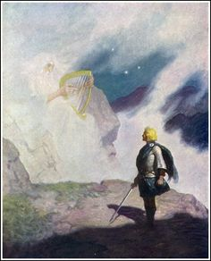 """First the night air makes the strings go out of tune, then dew gets the sounding board wet, and finally, your fingers get cold and stiff...""  N.C. Wyeth (The Scottish Chiefs by Jane Porter)"