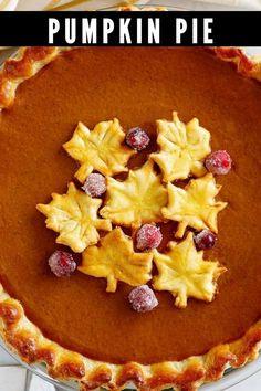 Classic Pumpkin Pie Recipe, Apple Tart Recipe, Homemade Pumpkin Pie, Pumpkin Pie Recipes, Tart Recipes, Pumpkin Tarts, Baked Pumpkin, Pie Flavors, Sweet Pie