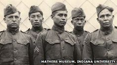 WWI wind talkers Members of the Choctaw Telephone Squad