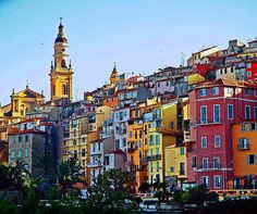 Menton, Provence-Alpes-Cote d'Azur, France- Wow, that's one colorful town! Places Around The World, Oh The Places You'll Go, Places To Travel, Places To Visit, Around The Worlds, Cannes, Menton France, Provence France, Paris
