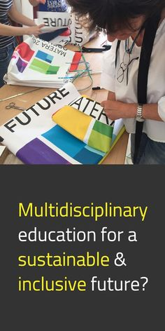 """Multidisciplinary education is key to an environmentally sustainable 🌱 and socially inclusive 💚 future. The 'Open Design School' is an experimental and #MultidisciplinaryDesign lab in Italy, based on peer-to-peer exchanges of knowledge & experience that result in a fruitful contamination between art, science, and technology. #NewEuropeanBauhaus #Education #SustainableFuture #SocialInnovation #EUGreenDeal #EuropeForCulture 📸 2019 """"Bag from banner recovery"""" workshop / © Open Design School Multi Disciplinary, Public Administration, Co Design, Your Voice, Bauhaus, School Design, New Trends, Sustainability, Recovery"""