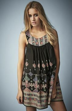 Kate Moss for Topshop Aztec Print Sundress available at #Nordstrom