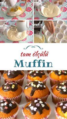 Tam Ölçülü Muffin Tarifi nasıl yapılır? 2.648 kişinin defterindeki Tam Ölçülü Muffin Tarifi'nin resimli anlatımı ve deneyenlerin fotoğrafları burada. Yazar: Emine Ayşe Karataslı Cap Cake, Muffin Cups, Muffins, Tea Time, Frozen, Food And Drink, Meals, Cooking, Desserts