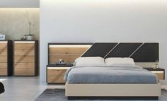 Love how the headboard and bedroom furniture match, but aren't identical in design in this contemporary bedroom Contemporary Bedroom, Bedroom Interior, Farmhouse Style Living Room, Bedroom Design, Bed Furniture Design, Luxurious Bedrooms, Bed Design, Furniture, Country Living Room
