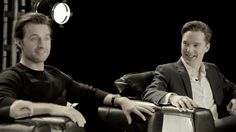 Richard Armitage and Benedict Cumberbatch. Too much smolder!!!!!