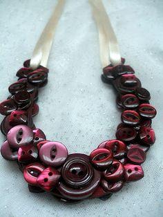 Pretty button necklace.