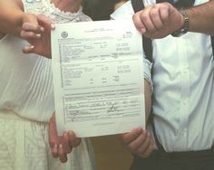 the signed marriage license! Photos by @beckmccormick