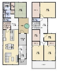 House Floor Plans, My Dream Home, Building A House, Building Ideas, Architecture Design, Japan, Flooring, How To Plan, Inspiration