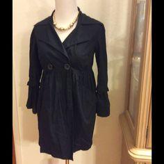Black light jacket coat   BOGO 50% off bundle. Very light for those cool day or night, unlined coat Jackets & Coats
