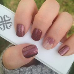 Jamberry Sparkling Marsala and Ohm over TruShine Latte. https://aubreymueller.jamberry.com