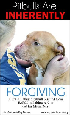Pitbulls are inherently forgiving.