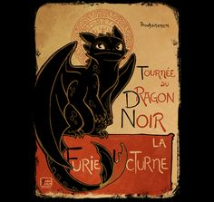 """Available Now! Hurry, Ends today 9PM (PST) """"Le Dragon Noir"""" by YoukaiYume is available now exclusively on TeeFury.com  Get yours here: http://www.teefury.com/?utm_source=pinterest&utm_medium=referral&utm_content=ledragonnoir&utm_campaign=organicpost?&c3ch=Social&c3nid=Pinterest"""