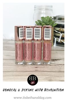 Conceal & Define with Revolution. Makeup Revolution have just released the £4 concealers, that can also be used to contour with. Are they worth it? Read all about them on my blog.